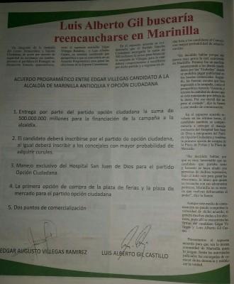 Periódico contra Villegas
