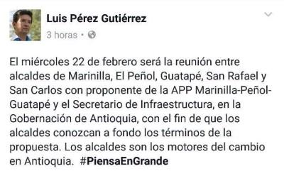 Citación alcaldes Luis Pérez