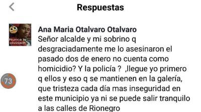 Respuesta al alcalde