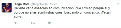 Tuit Diego Mora