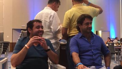 Fabio Ríos con el secretario de movilidad de Medellín, Juan Esteban Martínez